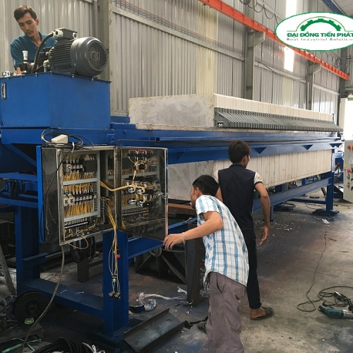 plate-filter-press-for-sludge-treatment-from-dai-dong-tien-phat